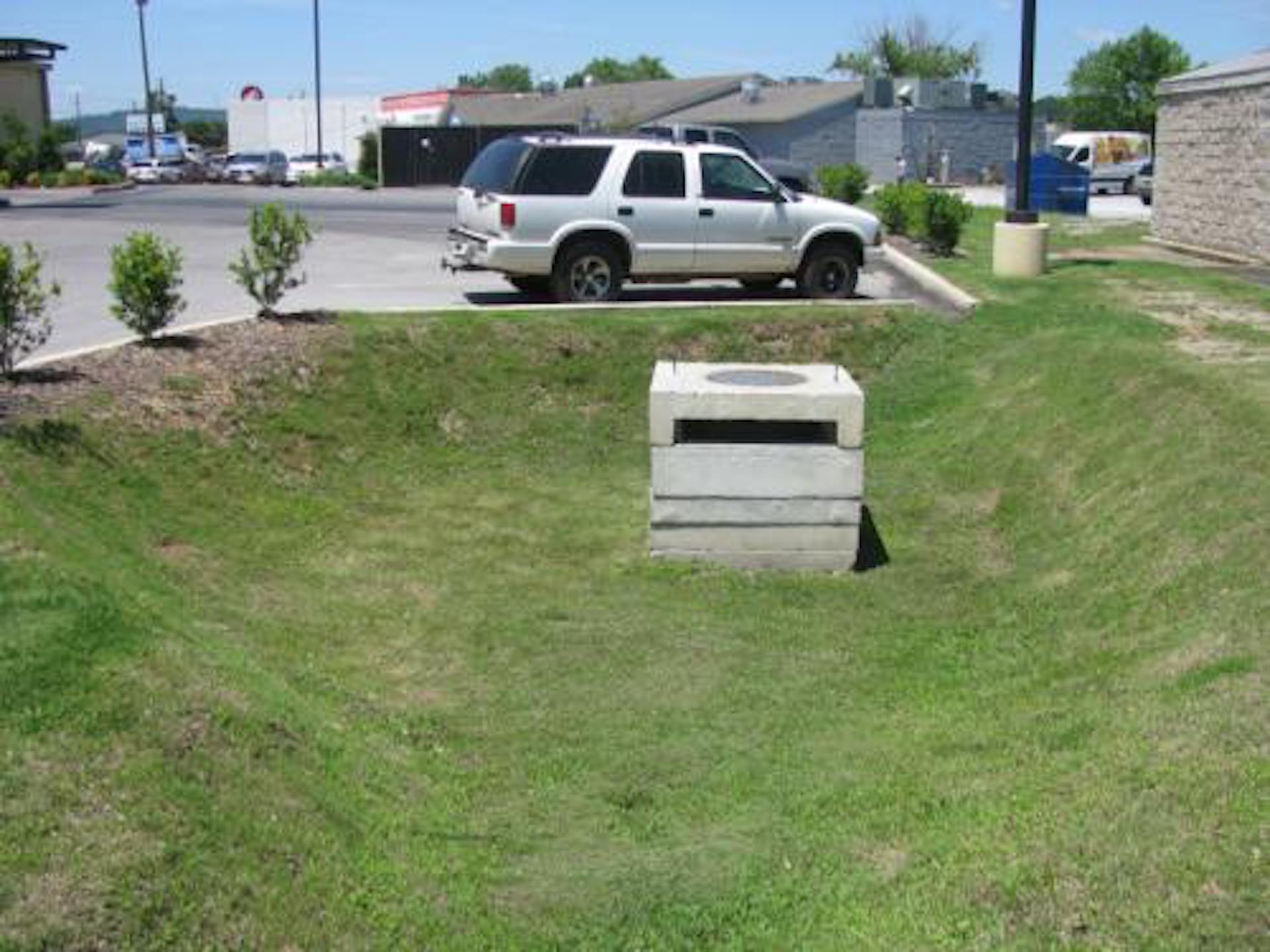 detention pond example for Bioretention Basin Construction